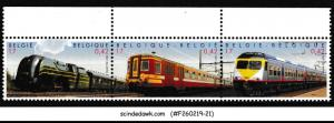 BELGIUM - 2001 35th ANNIVERSARY OF RAILWAY/ TRAIN SG#3626-28 3V MNH