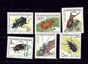 Czechoslovakia 1144-49 MNH 1962 Insects