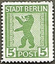 Germany #11N1 5pf Berlin Bear MNH (1945)