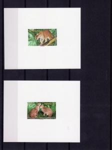 Senegal 1997 WWF W/Logo 4 Deluxe SS MNH Mi.#1515/18 Golden Cat
