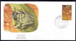 Tanzania FDC SC# 475 African Tree Frog L359