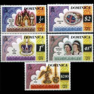 DOMINICA 1977 - Scott# 521A-5A Reign Perf.12 Set of 5 NH