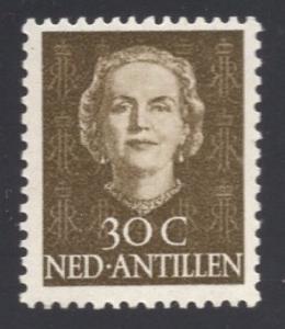 Netherlands Antilles  #224  1950  MNH Juliana   30ct
