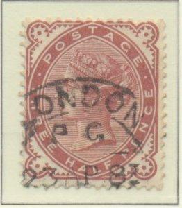 Great Britain Stamp Scott #80, Used, London Postal Cancel - Free U.S. Shippin...