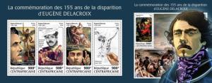 Z08 CA18213ab Central Africa 2018 Eugene Delacroix MNH ** Postfrisch Set