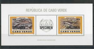 56488 - CABO Cape VERDE - 1986 S/S overprinted SPECIMEN  - ANIMALS Skink LIZARDS