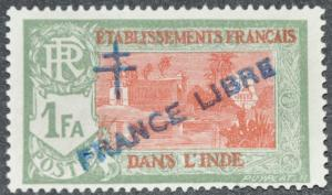 DYNAMITE Stamps: French India Scott #165 - UNUSED