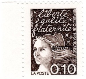 Mayotte Scott 75-78 (1997: Marianne Type of France Overprinted)
