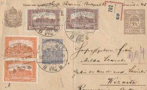HUNGARY 1922 POSTCARD BUDAPEST MARKING USED POST