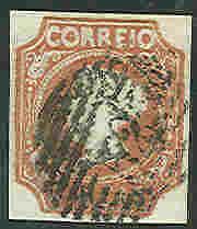 PORTUGAL #1 Used, signed Diena & Richter, VF, Scott $850.00
