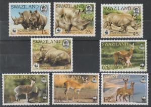 SWAZILAND 1987 & 2001 WWF SETS RHINOCEROS & ANTELOPES MNH **