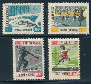 Albania - Innsbruck Olympic Games MNH Set #706-709 (1964)