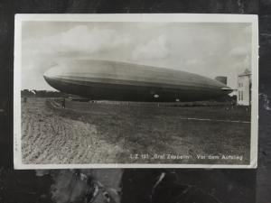1929 Germany Graf Zeppelin on Ground RPPC Postcard Cover LZ 127 to Braunschweig