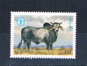 Zambia 421 MNH Cattle Brahma 1987 (Z0010)+
