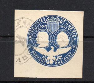 U348 Used part new york cancel letter