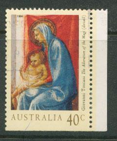Australia SG 1487  VFU  booklet imperf bottom right