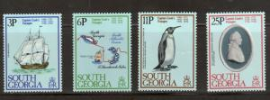 South Georgia 52 - 55 - Voyages Of Captain James Cook MNH. OG.   #02 SOGEO52s
