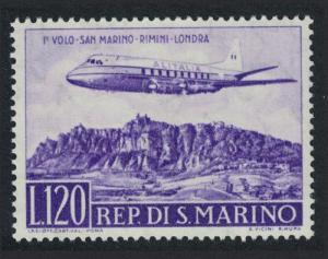 San Marino Alitalia Inaugural Flight Rimini-London D1 SG#576 CV£3