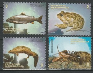 Macedonia 2009 Fauna, Fish, Crab, Frog 4 MNH stamps