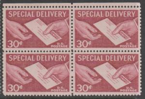 U.S. Scott #E21 Special Delivery Stamp - Mint NH Block of 4