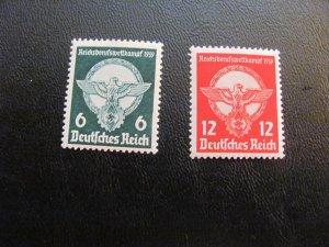 GERMANY 1938 MNH SC# 490-491 SWASTICA SET $25 (113)