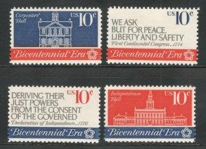 1543-46 American Revolution Bicentennial Set Of 4 Mint/nh Free Shipping (A-394)