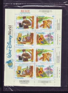 Canada   Sc 1621c Bk 194 Winnie the Pooh Disney bklt NH
