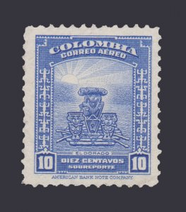 COLOMBIA 1941 SCOTT # C128. UNUSED. # 1