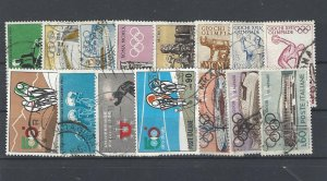 Italy Sports & Olympics topic used stamps