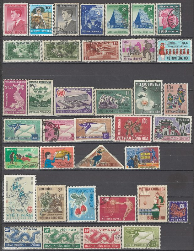 COLLECTION LOT OF #1022 VIET NAM SOUTH 37 STAMPS 1956+