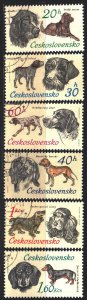 Czechoslovakia. 1973. 2154-59. Dogs. USED.