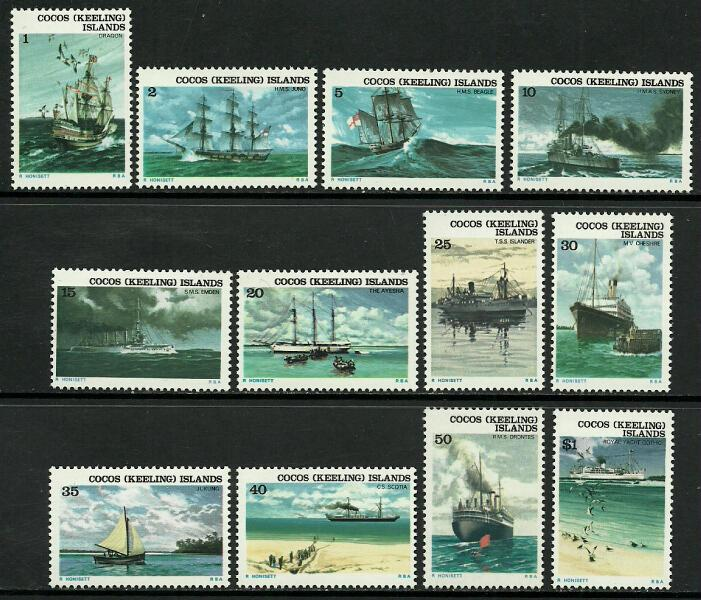 COCOS ISLANDS 20-31 MNH SHIPS N774