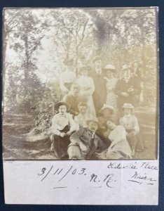 1903 Ayr England Real Picture Postcard Stationery Cover Family Photo