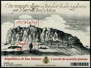 HERRICKSTAMP SAN MARINO Sc.# 1727 The Postilion Stamp S/S