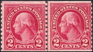 599/599A Mint,OG,NH...Combination Line Pair...SCV $1,350.00..Types I and II