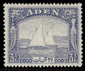 ADEN GVI SG7, 3½a grey-blue, M MINT.