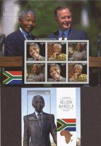St Vincent - Canouan - 2013 Nelson Mandela - 6 Stamp + S/S - SGC1311SHS