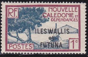 Wallis and Futuna Islands 1930 SC #43 Bay of Paletuviers Point 1c Unused OG.