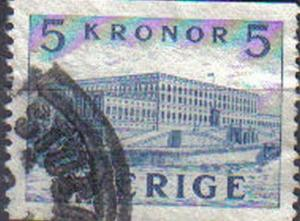 SWEDEN, 1941, used 5ore Royal Palace, Stockholm