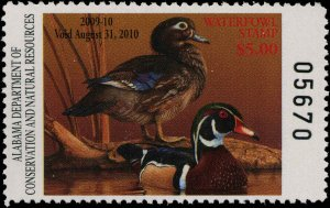 ALABAMA #31 2009 STATE DUCK WOOD DUCK by John Denney