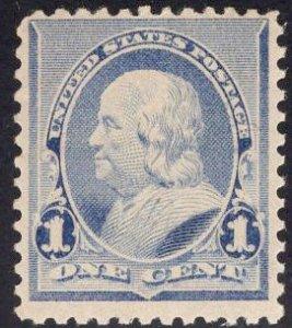 US Stamp #219 1c Blue Franklin Mint NH SCV $65