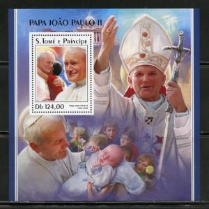 SAO TOME 2018  POPE JOHN PAUL II  SOUVENIR SHEET  MINT NH