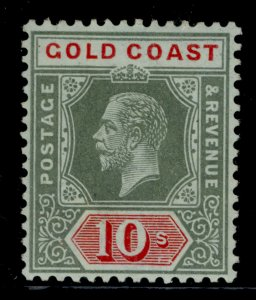 GOLD COAST GV SG83a, 10s blue/green olive back, NH MINT. Cat £42.