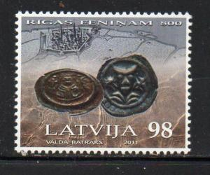 Latvia Sc 782 2011 Early Riga Coin stamp mint NH