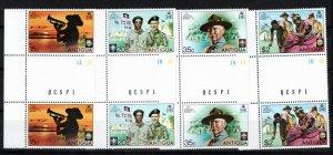 Antigua 1975 Sc 383-6 MNH Commemorative Perforate Gutter Pairs (4)