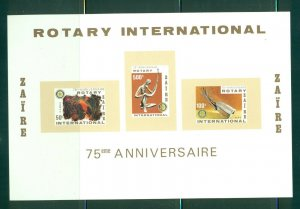 Zaire  #973a (1980 Rotary sheet) VFMNH CV $6.00