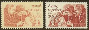 2011-20c Aging Together Reverse Offset Error Mint NH
