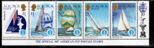 Solomon Islands Scott 574 MNH** Amercas Cup right half of strip