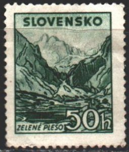 Slovakia. 1944. 146 from the series. Mountain landscape. MLH.