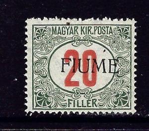 Fiume J11 MNH 1918 overprint